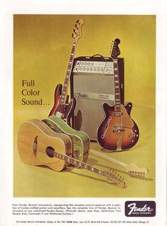 1967 Fender advertisement - Full Color Sound