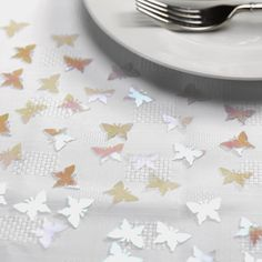 Purlescent Butterflies Table Confetti - Wedding or Party Decoration 14g
