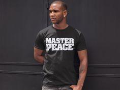 Dpction Mens Master Peace BLACK Short Sleeve Tee