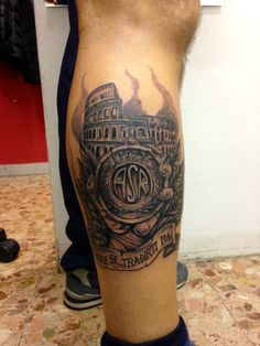 #football #asroma #rome #colosseum #italy #dotwork #tattoo #inked #passion #soccer #blackink