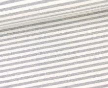 Sommersweat - Schmale Streifen - Grau/Weiß