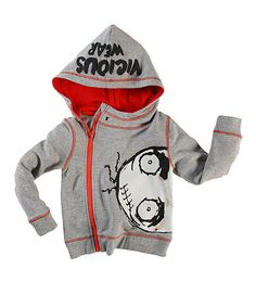 Another great find on #zulily! Gray & Red Organic Hoodie - Toddler & Boys by Vicious Wear #zulilyfinds