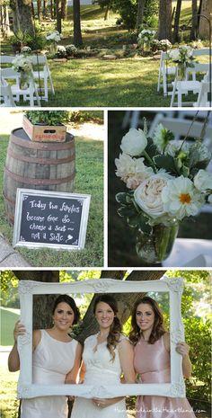 Perfect Backyard Wedding. HandmadeintheHeartland.com