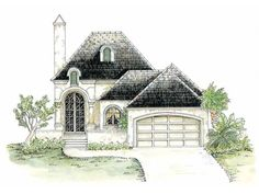 eplans french country house plan - enchanting stone cottage - 2934
