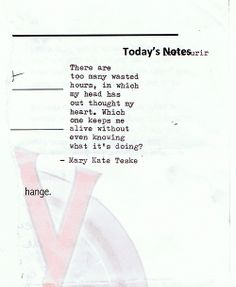 Typewriter poem #114 | Mary Kate Teske