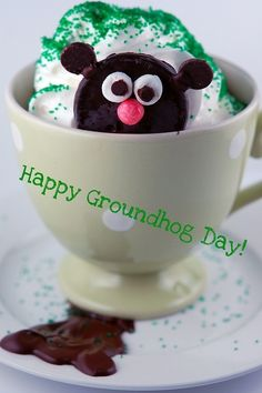 groundhog hot cocoa and other ideas for Groundhog Day