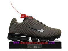 cheaper 32b25 8a6a3 Nike air Vapormax 2018 Nouveau Coussin d´air Chaussures De Course Hommes  Vert des prairies