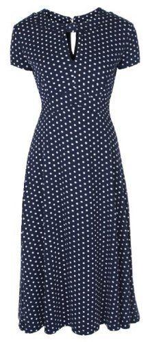 Lindy Bop 'Juliet' Classy Blue Polka Dot Vintage WW2 Landgirl 1940s 1950s Pinup Retro Tea Dress, http://www.amazon.com/dp/B009H409C4/ref=cm_sw_r_pi_awd_lxy2rb1H6TMJ2