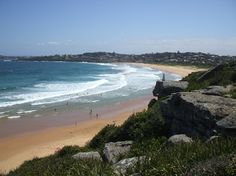 A shot of Curl Curl beach, Sydney, AU