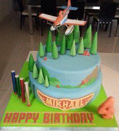 Planes fire & rescue birthday cake