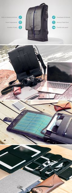 Your bag could have a built-in power bank. OR it could have a solar panel. OR it could be made of Scratch proof Canvas. The Moovy has all of the above! Along with mag-safe chargers for your devices, a detachable USB Hub, and a Grid-It board for organizing your belongings. Shop now!