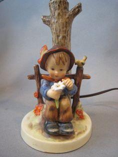 Good Friends Hummel Table Lamp #228 (TMK-3, 1960-63). No shade ...