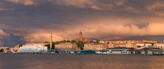 Gothenburg Skyline At Sunset.