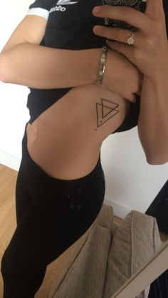 My first tattoo #tattoo #small #geometric #triangle #side #girly #minimalist
