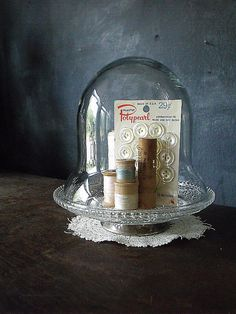 Vintage sewing cloche.  How ingenious!!!