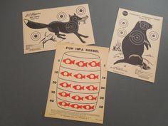 Paper targets 1950's vintage  masculine decor  by GUTTERSNIPES