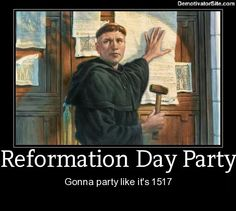Reformation Day; Protestant Christian Religious Observance; Sunday nearest October 31; Anniversary of Protestant tradition and its emphasis on the place of the Bible and religious freedom. On October 31, 1517 c.e. Martin Luther posted a belief statement on Wittenberg Church door.