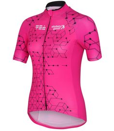 stolen goat pink cycling jersey ladeis intergalactic front