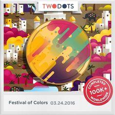 Happy #Holi holiday from #TwoDots #FestivalOfColors