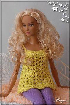 Resultado de imagen para ropa de barbie tejida a crochet grafico