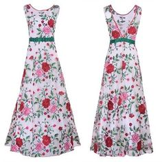 Womens-Evening-Party-Cocktail-Embroidery-Floral-Dress-Sleeveless-A-Line-Dressees