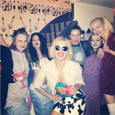 Daisy Lowe as Alabama Whitman from TRUE ROMANCE for her 90s themed birthday bash