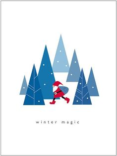winter magic by suzy_yes Christmas Poster, Noel Christmas, Christmas Design, Winter Christmas, Vintage Christmas, Christmas Crafts, Christmas Decorations, Christmas Tree Graphic, Father Christmas