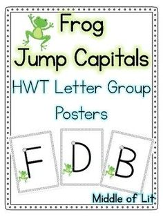 Handwriting without tears style narrow paper also have paper with frog jump capitals handwriting without tears style spiritdancerdesigns Gallery