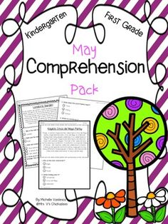 May Comprehension Pack {Kindergarten & First... by Mrs V's Chickadees | Teachers Pay Teachers
