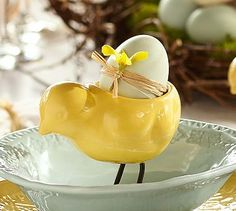 Spring chick egg cups are perfect for brunch.