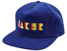 Shapes Blue Snapback Cap by BAKER