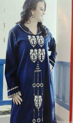 اخر صيحات الجلابة المغربية 2016 Moroccan Caftan, Russian Fashion, Stitch Design, Embroidery, Clothes For Women, Blouse, Casual, Dresses, Style