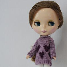 Ravelry: Cyndi Sweater for Blythe pattern by Anne Heidemann