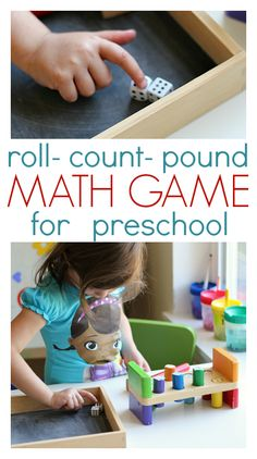 Fun preschool math game that works on number recognition, counting, and subitizing. Perfect for PreK !