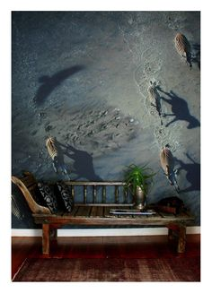 Looks amazing in this home.  One of Richard's prints made into a wall mural.