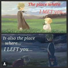 """Hetalia America and England. """"The place where I met you is also the place where I left you"""" - NOOOO I NEVER NOTICED TT.TT *sobbing*"""