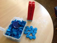 Torre de legos del 0 al 10 y tapas del 0 al 100