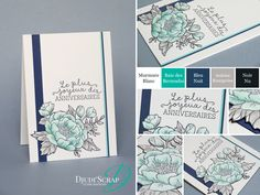 "Djudi'Scrap Stampin'Up! - Carte Anniversaire ""Set Fleurs d'Anniversaire / Birthday Blooms"""
