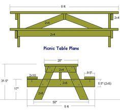 Picnic Table End View Random Pinterest Tables Picnics And Plans