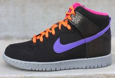 Nike Dunk High 317982-053 Black/Purple/Orange/Cool Grey SZ12 Men's With OG BOX #Nike #FashionSneakers