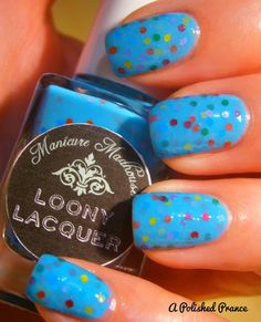 Rainbow Dash Loony Lacquer nails