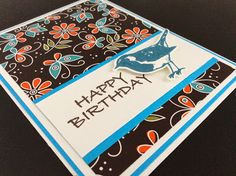 Bird card using Gina K designs materials. Love her Youtube channel, check my blog for a link.
