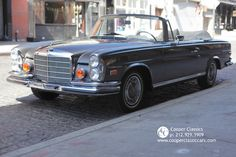 1970 Mercedes Benz Cabriolet - Gray over Parchment.just beautiful! Classic Mercedes, Steyr, Mercedes Benz Amg, Maybach, Cars For Sale, Dream Cars, Convertible, Automobile, Boat