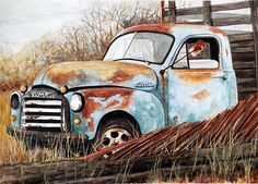 Sonja Caywood - Out to Pasture- Watercolor - Painting entry - February 2014 | BoldBrush Painting Competition