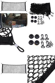 [Visit to Buy] Elastic Nylon Car boot string bag Trunk Storage Organizer auto storage Net for SUV/RV Hatchback Trunk car Interior Accessories #Advertisement