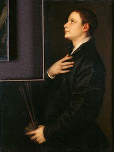 Tiziano Vecellio, gen. Tizian (um 1488 Pieve di Cadore - 1576 Venedig) - GND Der Sohn des Orators Francesco Filetto (?) Portrait, Movie Posters, Movies, Painting, Art, Art Background, Headshot Photography, Films, Film Poster
