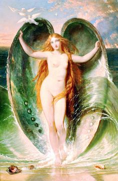 The Birth Of Venus Innocence Mighty Aphrodite Rising Out Of The Sea Foam