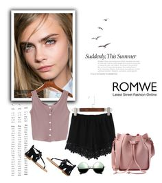 """Romwe 6/V"" by nermina-okanovic ❤ liked on Polyvore featuring Revo, Sigerson Morrison and romwe"