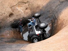 Uh, I didn't do this when I drove through this hot tub in Moab.