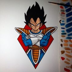 Follow us on FreshTattoo.tumblr.com Started this earlier today #tattoo #dragonballz #vegeta by perjtattoo - Visit now for 3D Dragon Ball Z shirts now on sale!